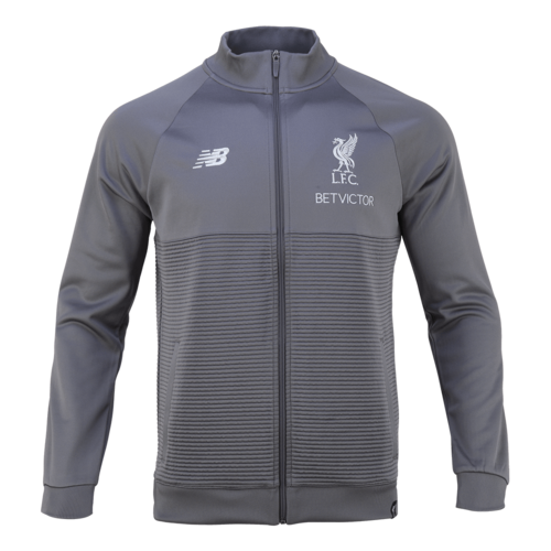 18-19  Liverpool Elite Training WalkOut Jacket - Grey