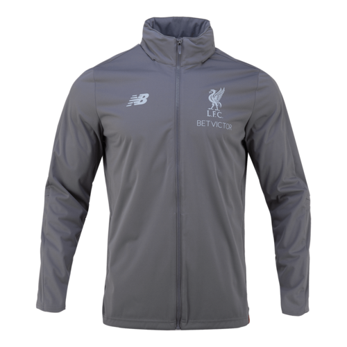 18-19  Liverpool Elite Training PreSeason Rain Jacket - Gray