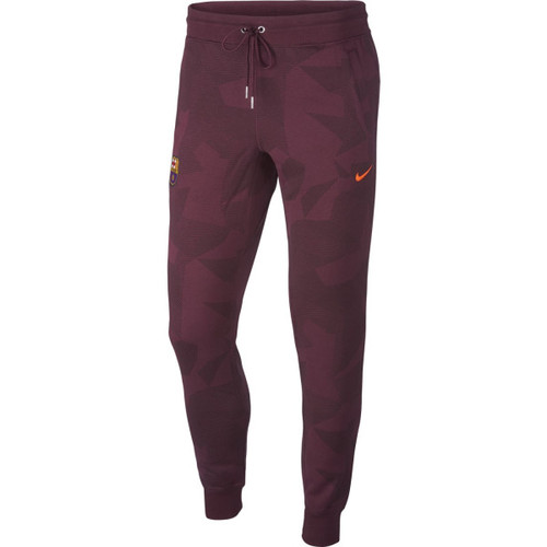 [해외][Order] 17-18 Barcelona NSW Authentic Cuff Track Pants  - Night Maroon/Hyper Crimson