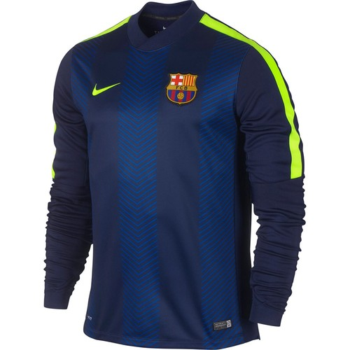 [Order] 14-15 Barcelona  LS Pre-Match Training Jersey - Blue