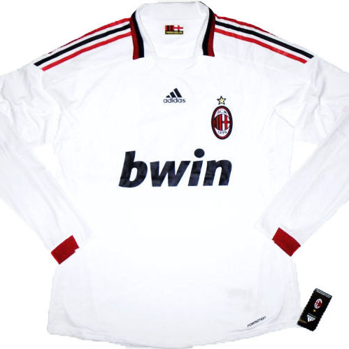 09-10 AC Milan Authentic Player Issue Away L/S + 32 BECKHAM - FORMOTION (Size:XL)