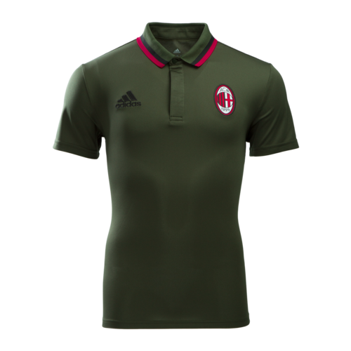 [해외][Order] 16-17 AC Milan Training Polo - Night Cargo/Black/Victory Red
