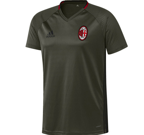 [해외][Order] 16-17 AC Milan Training Jersey - Night Cargo/Black/Victory Red