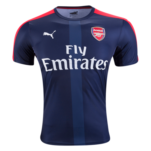 [해외][Order] 16-17 Arsenal Stadium Jersey With Sponsor - High Risk Red/Peacoat