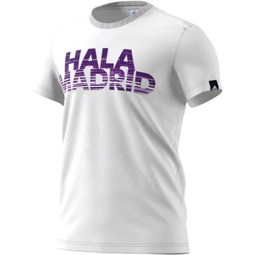 [해외][Order] 16-17 Real Madrid Gr BST Tee - White/Ray Purple