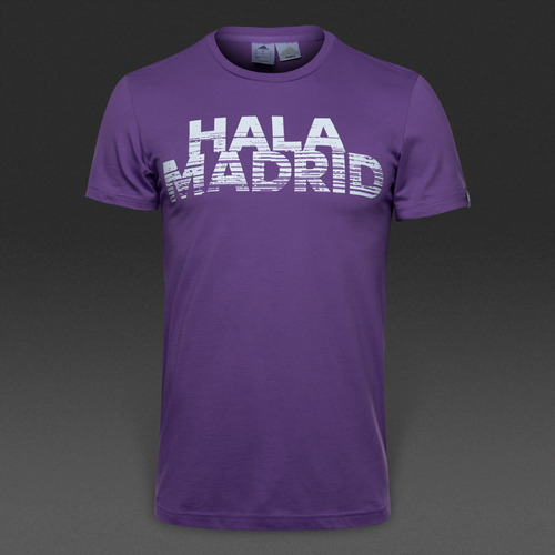 [해외][Order] 16-17 Real Madrid Gr BST Tee - Ray Purple/Crystal White