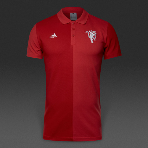 [해외][Order] 16-17 Manchester United Polo - Black/Dark Grey