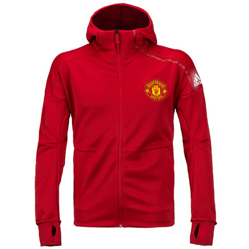 16-17 Manchester United(MUFC) Anthem ZNE Hoody Jacket - Red