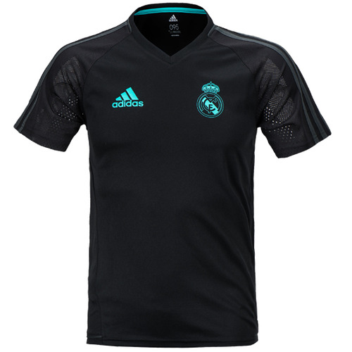 17-18 Real Madrid (RCM) Training Jersey - Black