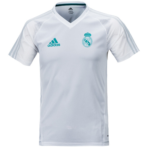 17-18 Real Madrid (RCM) Training Jersey - White