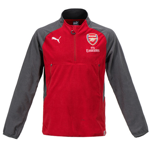 17-18 Arsenal Fleece Training Top - Red