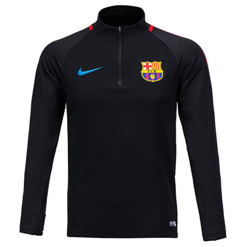 17-18 Barcelona Dry Squad Drill Top - Black/University Red/Soar