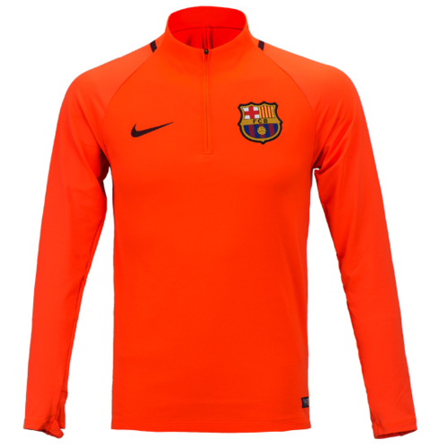 17-18 Barcelona Dry Squad Drill Top - HYPER CRIMSON/NIGHT MAROON