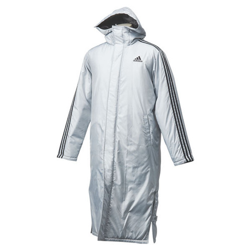 3 Stripe Long Coat  - Grey