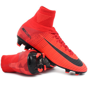 [해외][Order] Junior Mercurial Superfly V FG - Bright Crimson/White/University Red/Hyper Crimson - KIDS