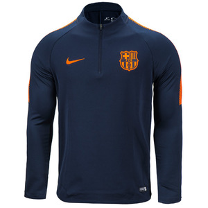 17-18 Barcelona Dry Squad Drill Top - Navy