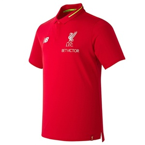 18-19  Liverpool Elite Leisure Essential Polo Shirt - Red