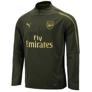 [해외][Order] 18-19 Arsenal 1/4 Zip Training Top - Forest Night