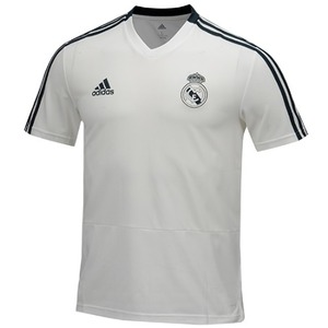 18-19 Real Madrid (RCM) Training Jersey - White