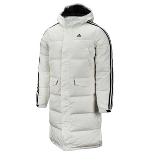 3STR Long Down Parka - White