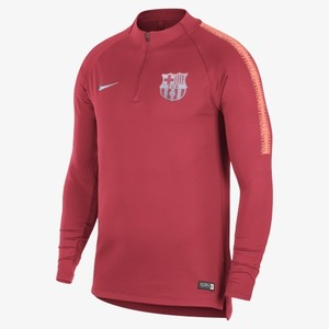 [해외][Order] 18-19 Barcelona Dry Squad Drill Top - Tropical Pink/Light Atomic Pink