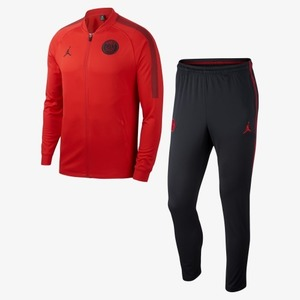 18-19 Paris Saint Germain(PSG) Dry-Fit Squard Track Suit - Red/Black (JORDAN X)