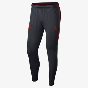 18-19 Paris Saint Germain(PSG) Dry Squad Pants - Black/Red (JORDAN X)
