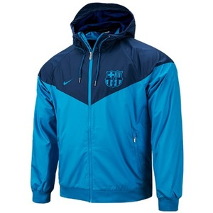 18-19 Barcelona NSW Authentic Woven WindRunner Jacket - Blue