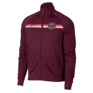 [해외][Order] 18-19 Barcelona Core Trainer Jacket - Deep Maroon/Metallic Silver