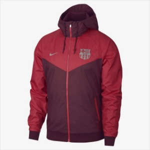 [해외][Order] 18-19 Barcelona NSW Authentic Woven WindRunner Jacket - Deep Maroon/Tropical Pink