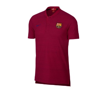 [해외][Order] 18-19 Barcelona NSW Modern GSP Authentic Polo Shirt - Noble Red/Noble Red/Deep Royal Blue
