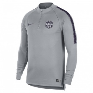 [해외][Order] 18-19 Barcelona Dry Squad Drill Top - Wolf Grey/Wolf Grey/Purple Dynasty