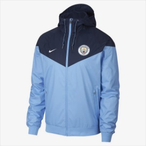 [해외][Order] 18-19 Manchester City Authentic Woven Windrunner -Field Blue/Midnight Navy/White
