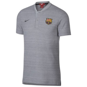 [해외][Order] 18-19 Barcelona NSW Modern GSP Authentic Polo Shirt - Wolf Grey/Wolf Grey/Anthracite
