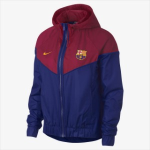 [해외][Order] 18-19 Barcelona NSW Authentic Woven WindRunner Jacket - Deep Royal Blue/Noble Red/Deep Royal Blue/University Gold