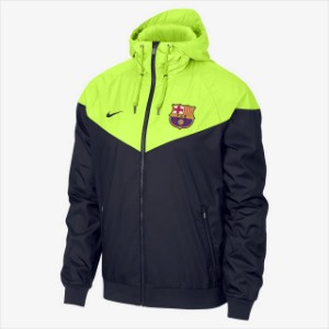 [해외][Order] 18-19 Barcelona NSW Authentic Woven WindRunner Jacket - Obsidian/Volt/Volt/Obsidian
