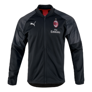 18-19 AC Milan Stadium Poly Jacket - Black