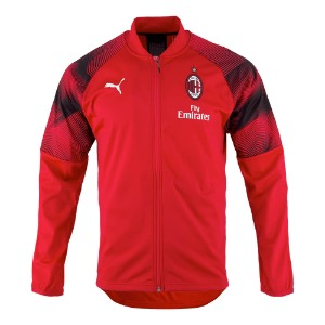 18-19 AC Milan Stadium Poly Jacket - Red