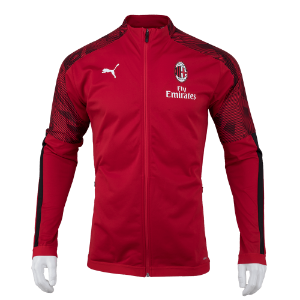 19-20 AC Milan Stadium Poly Jacket - Red