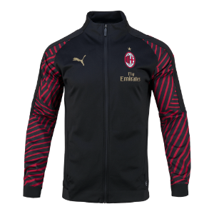 18-19 AC Milan Stadium Jacket - Black