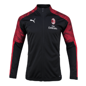 19-20 AC Milan Stadium Poly Jacket - Black