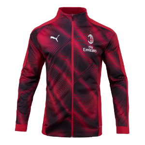 19-20 AC Milan Stadium Jacket - Red