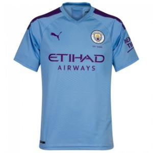 19-20 Manchester City Home Authentic Jersey - AUTHENTIC