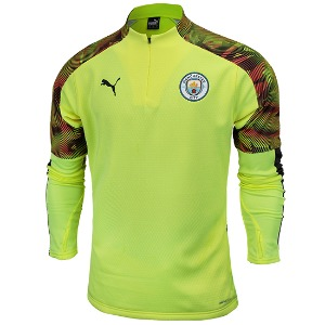 19-20 Manchester City Training Fleece Top - Yellow