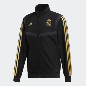 [해외][Order] 19-20 Real Madrid Pre-Match Jacket - Black/Dark Football Gold