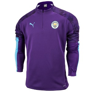 19-20 Manchester City Training Fleece Top - Purple