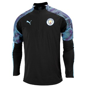 19-20 Manchester City 1/4 Zip Training Top - Black