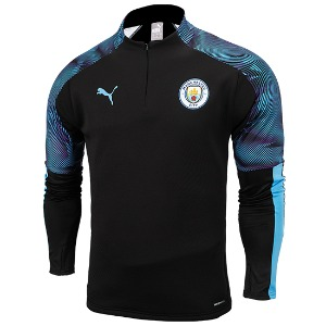 19-20 Manchester City Training Fleece Top - Black