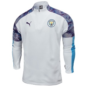 [해외][Order] 19-20 Manchester City Training Fleece Top - Puma White