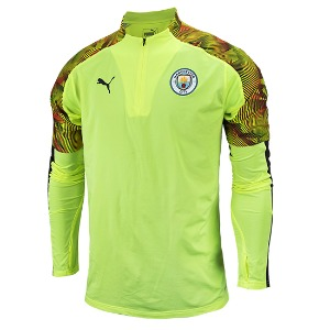 19-20 Manchester City 1/4 Zip Training Top - Yellow